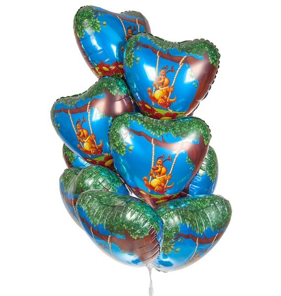 Фото - Букет шаров Влюблённый пёс (9 или 18 шаров) букет шаров красные сердца 9 или 18 шаров