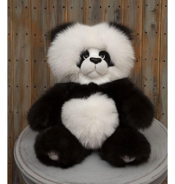 Игрушка из натурального меха песца Панда (55 см)