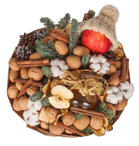 Букет из орехов, сухофруктов и мёда Зимнее чаепитие – фото № 3