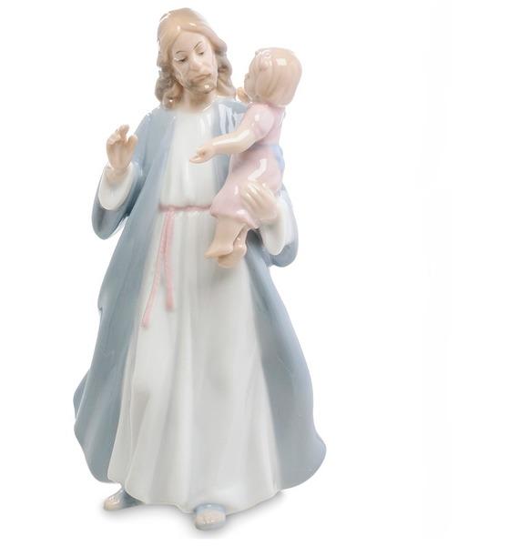 Статуэтка Иисус с девочкой (Pavone) статуэтка херувим фарфор 23см уп 1 12шт