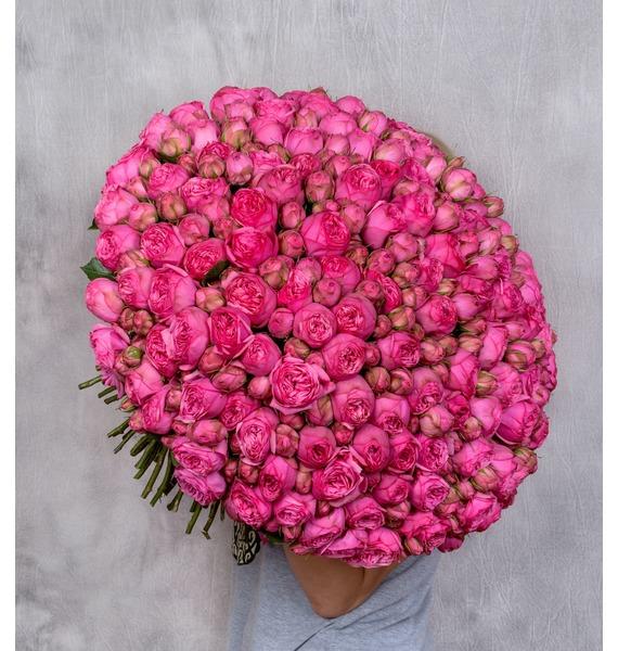 Букет из 151 пионовидной розы Pink Piano – фото № 1