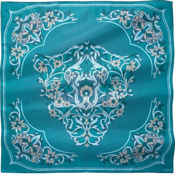 Шелковый платок Цветочный сон Cartier – фото № 1