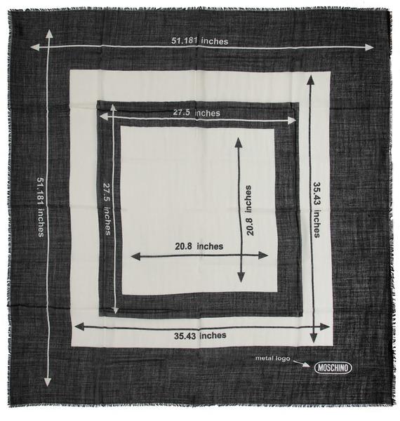 Палантин MOSCHINO Геометрия (Италия, 130х130 см) – фото № 4