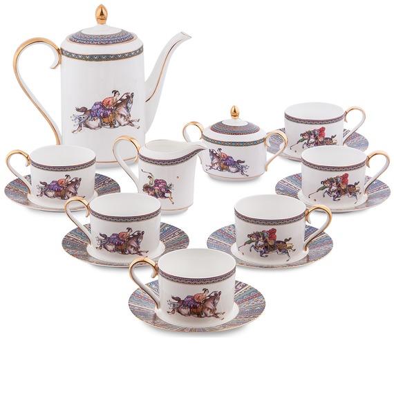 Чайный сервиз на 6 персон Восточное Поло (Pavone) молния riri ni карманная неразъемная на атласной тесьме цвет синий 9603 16 х 0 6 см