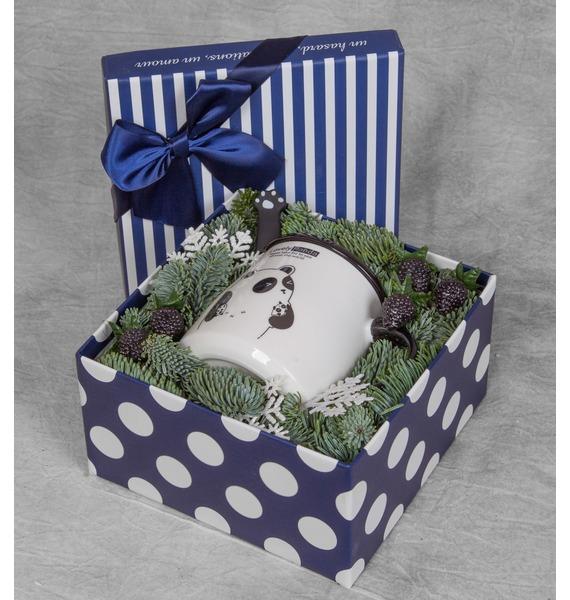 Подарочная коробка С заботой о нём коробка подарочная совы на белом 19 12 5 8см картон kairui 13 kairui hz 907m