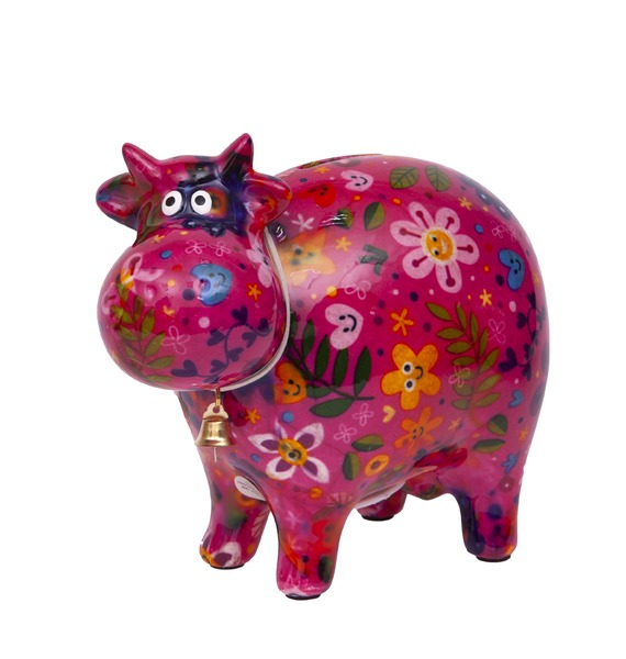 Копилка Корова (розовая)