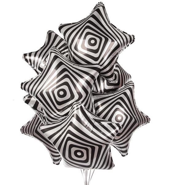 Букет шаров Иллюзия (7 или 15 шаров) букет шаров сладкий пончик 5 или 9 шаров