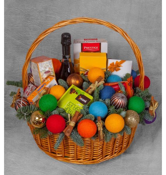 Подарочная корзина Радуга вкуса (Игристое вино в подарок) – фото № 1