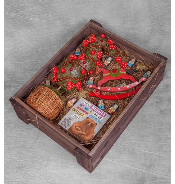 Подарочное кашпо Зимний подарок подарочное кашпо запах черемухи