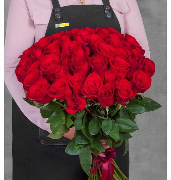 Букет эквадорских роз Freedom (25, 51, 75 или 101) цена