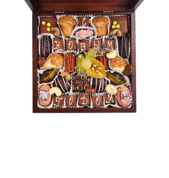 Шоколадный набор Новый Год шоколадный набор люблю