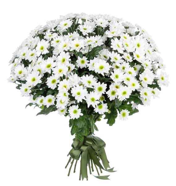 Букет Летний аромат (15,25,51 или 101 хризантема) – фото № 1