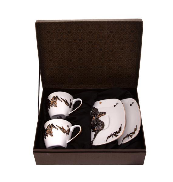 Подарочный набор для чая на две персоны (Фарфор)