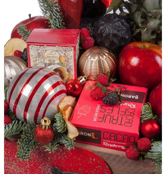 Подарочное кашпо Новогодняя эйфория (Красное вино в подарок) – фото № 2