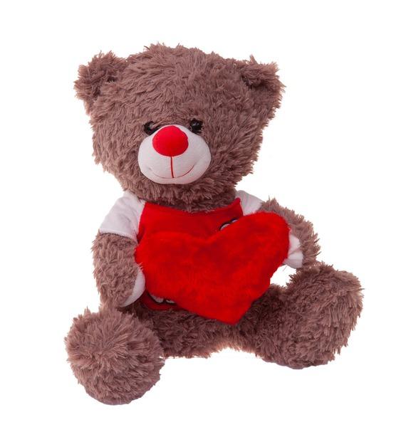 Мягкая игрушка Мишка Потапий с сердцем (30 см)