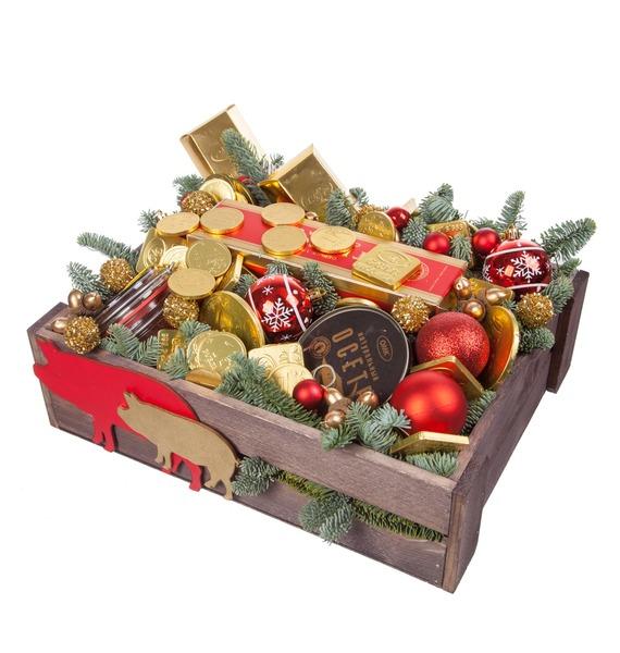 Подарочное кашпо Золотой вкус (Коньяк в подарок) – фото № 5