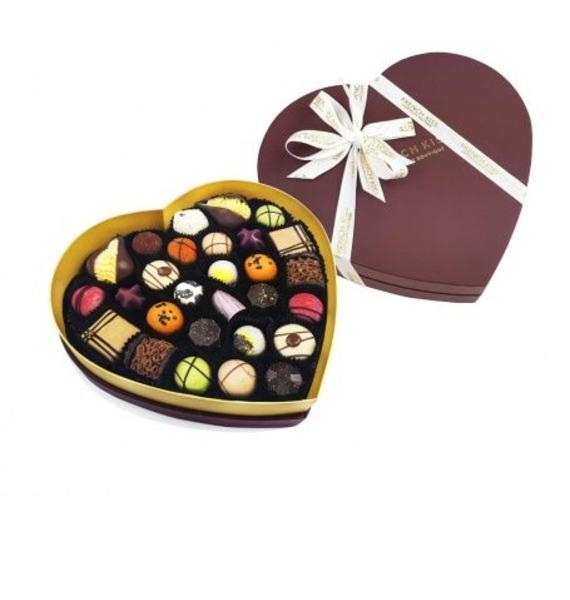 """цена Конфеты ручной работы из бельгийского шоколада """"Сладкое сердце Бордо"""" онлайн в 2017 году"""
