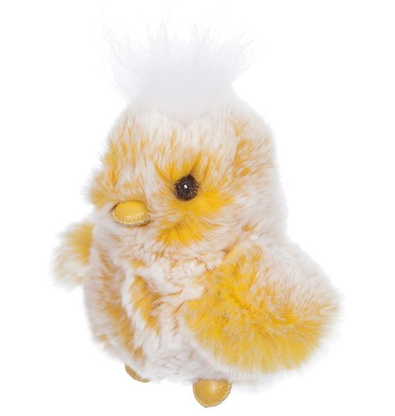 Игрушка из натурального меха Цыпленок игрушка