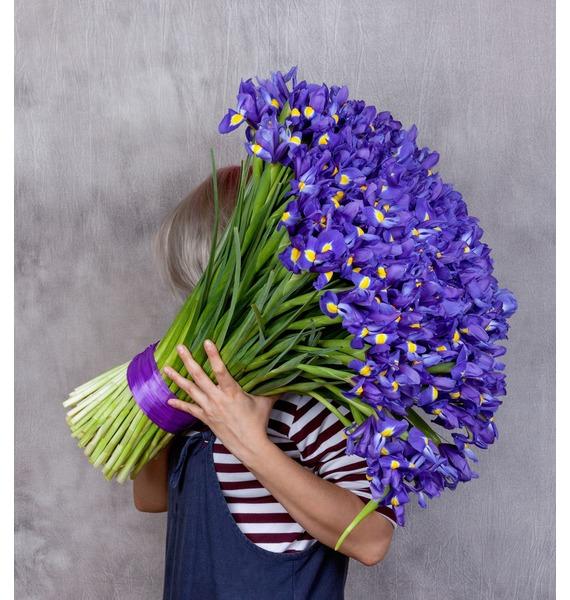 Bouquet of irises Favorite eyes (101, 151 or 201 iris) – photo #1