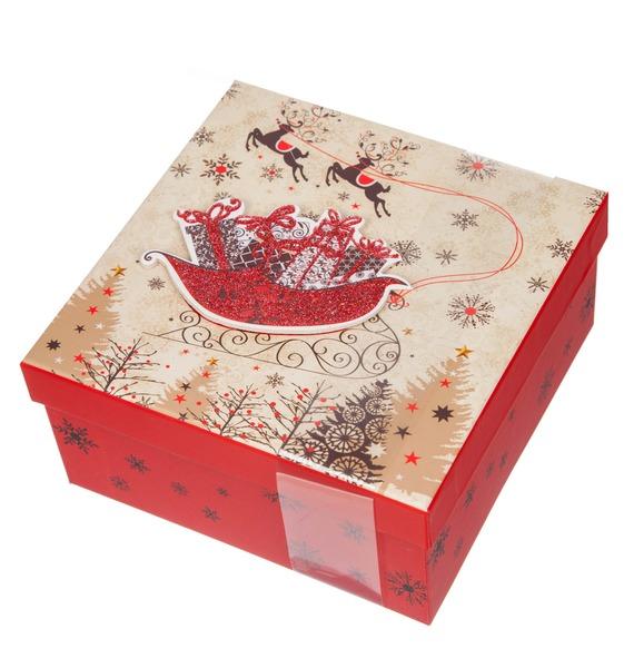 La Suissa Набор шоколадных конфет Новогодние сани bind трюфель набор шоколадных конфет 200 г