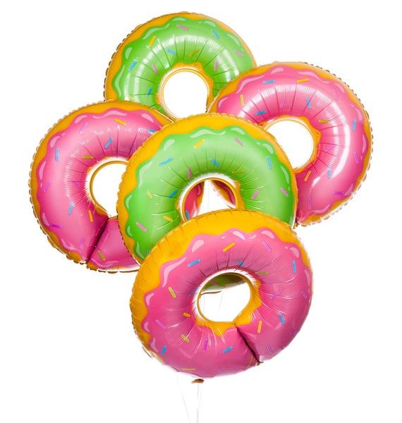 Букет шаров Сладкий пончик (5 или 9 шаров)