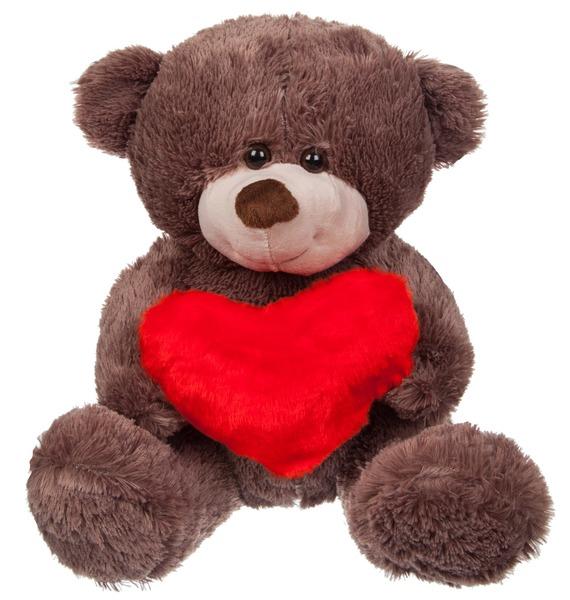 Мягкая игрушка Мишка Гектор с сердцем (31 см) mattel bjv44 blokus
