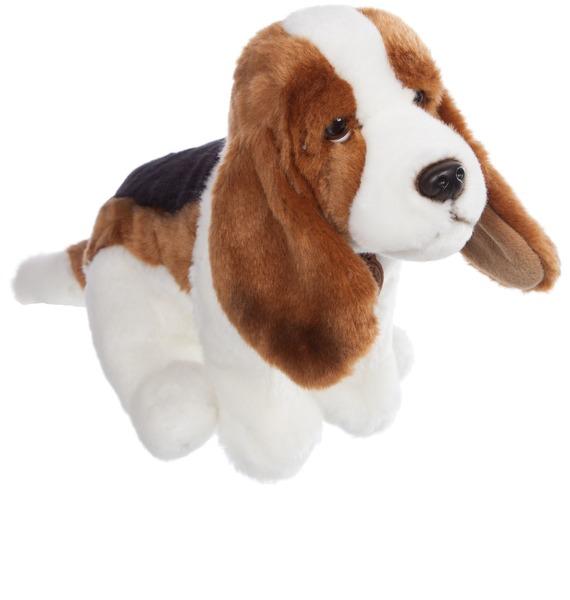 Мягкая игрушка Собака Бассет-хаунт (30 см) блюдо vellarti бассет вращающееся диаметр 30 см 2170035