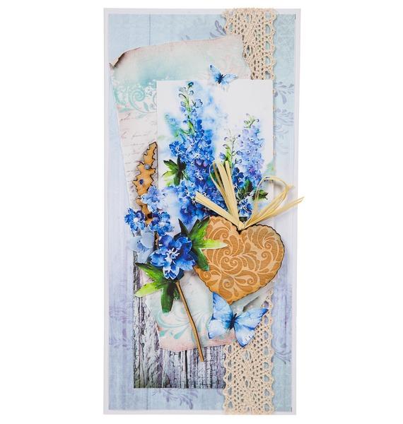 Открытка ручной работы Полевые цветы открытка ручной работы роза
