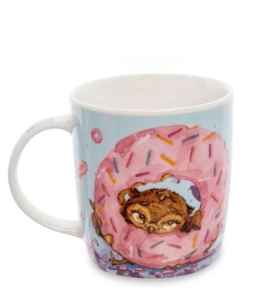 """Кружка фарфоровая """"Один кофе - один пончик"""""""