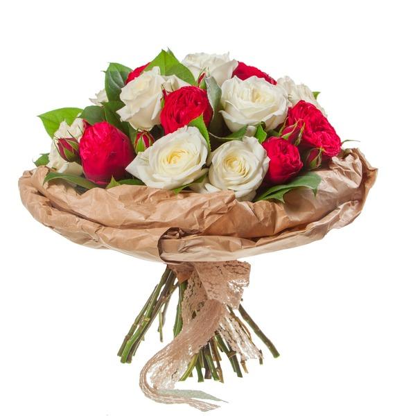 Букет из пионовидных роз Вечность (15, 25 или 51) – фото № 4