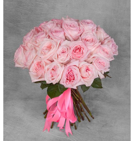 Букет ароматных пионовидных роз Pink OHara (15, 25 или 51)