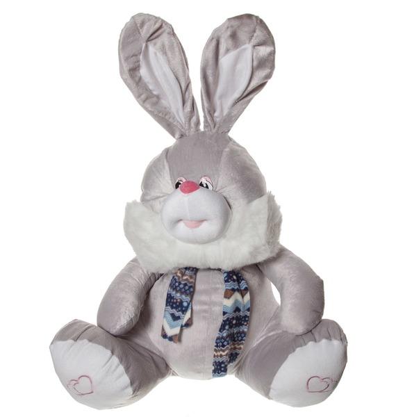 """Мягкая игрушка """"Заяц Саймон"""" (70 см) игрушка мягкая заяц в розовой шубе 30 см"""