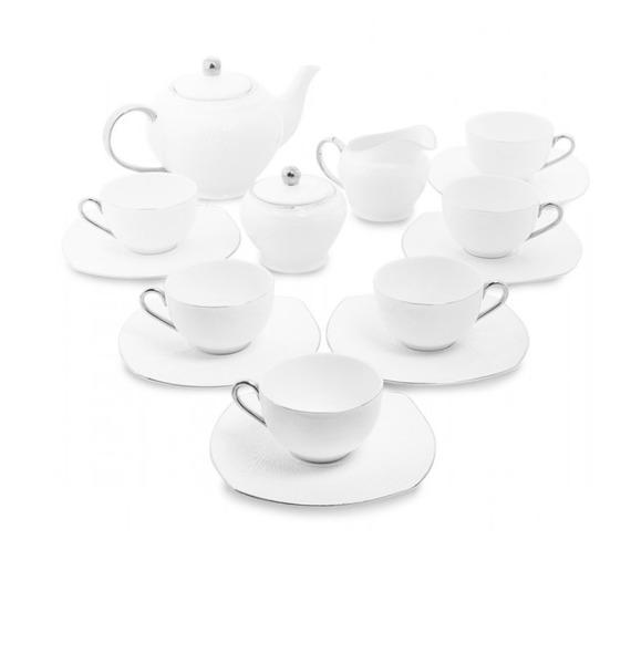 "Чайный сервиз на 6 персон ""Ордженто Бьянко"" (Pavone) lefard сервиз rosebella 350 мл"