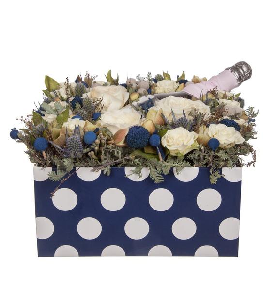Подарочная коробка Хорошее настроение (Игристое вино в подарок) – фото № 4