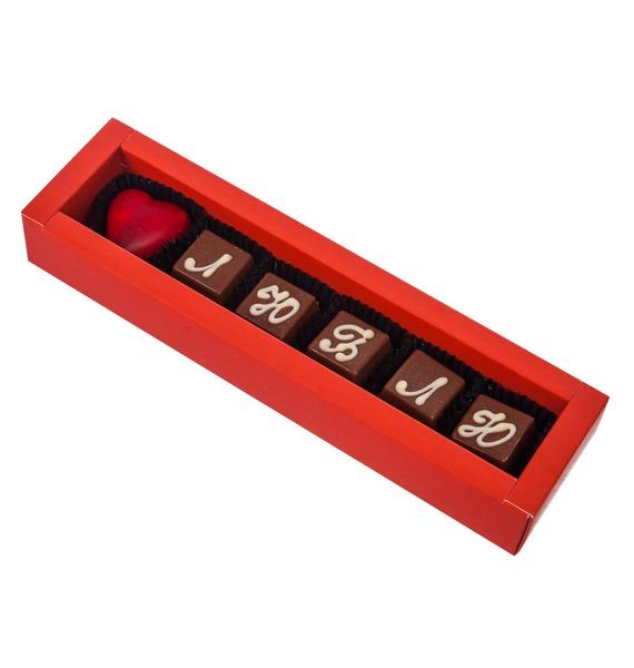 Конфеты ручной работы из бельгийского шоколада Люблю