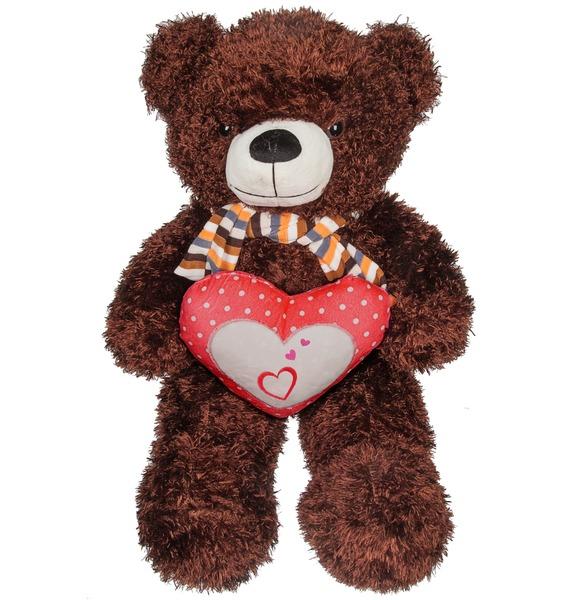 Мягкая игрушка Медведь с сердцем (60 см) мягкая игрушка медведь пузатый большой нижегородская игрушка см 377 5