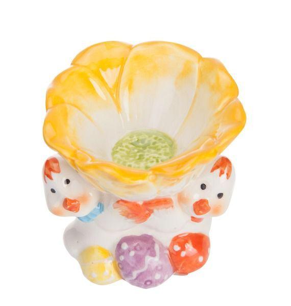 """Подставка под яйцо """"Цветочек"""" подставка под яйцо home queen орнамент цвет белый красный"""
