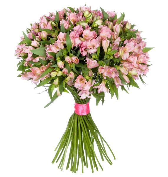 Bouquet Topaz (25, 51 or 101 alstroemeria) – photo #2