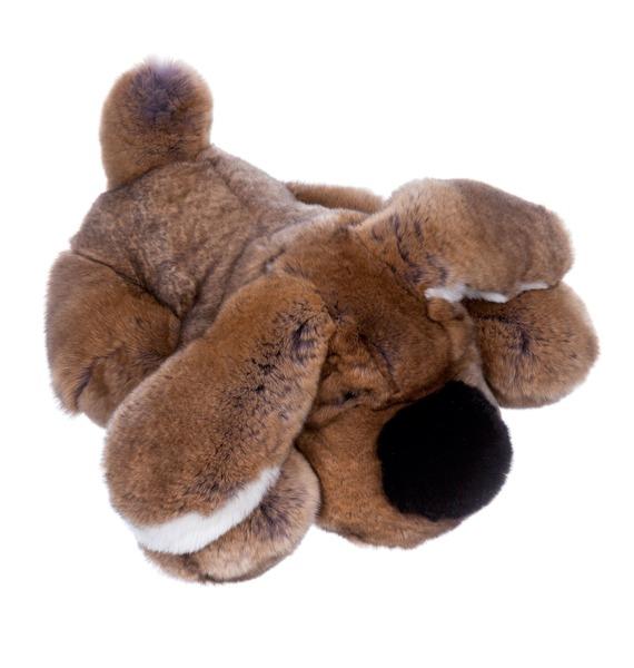 Спящая собака из натурального меха