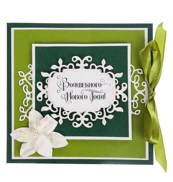 Открытка ручной работы Волшебного Нового Года! открытка ручной работы роза