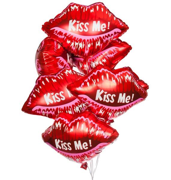 Букет шаров Kiss me (7 или 15 шаров) – фото № 1