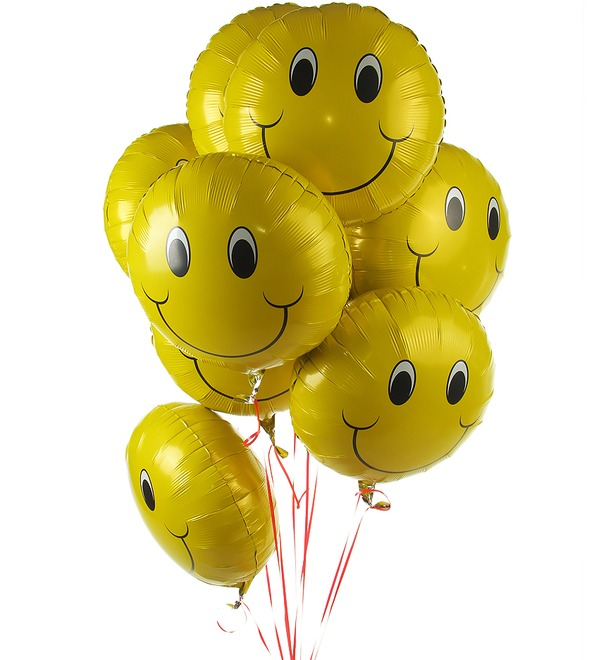 Bouquet of balloons Smile (9 or 18 balloons) – photo #1