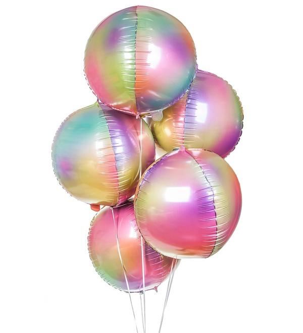 Букет шаров Радужная феерия (5 или 9 шаров) – фото № 1