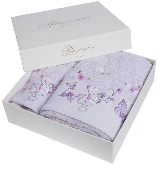 Комплект из 2-х полотенец Blumarine (лиловый) – фото № 2