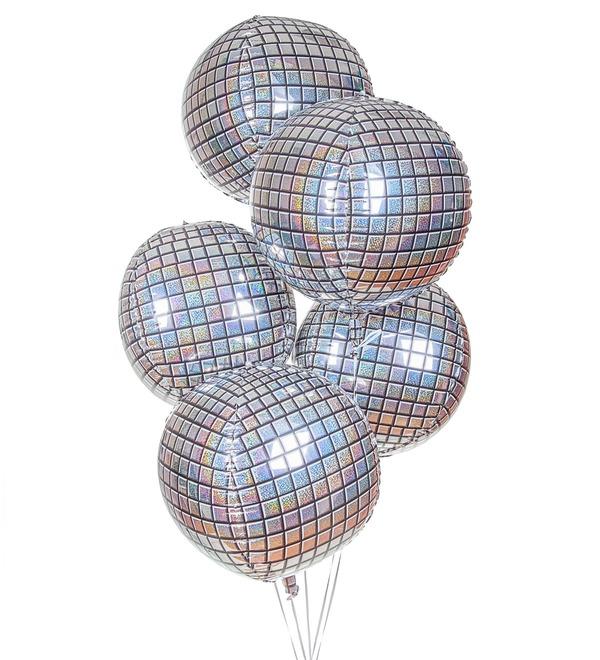 Букет шаров Дискотека (5 или 9 шаров) – фото № 1