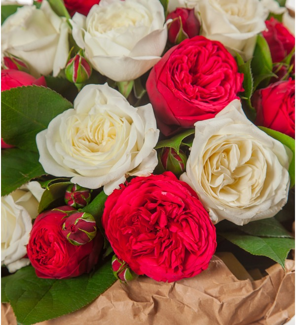 Bouquet of peony roses Eternity (15, 25 or 51) – photo #2