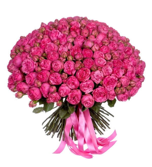 Букет-соло Розы Pink Piano (75 или 151) – фото № 5