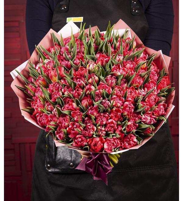Букет-соло Тюльпаны Flash Point (15,25,35,51,75 или 101) – фото № 1