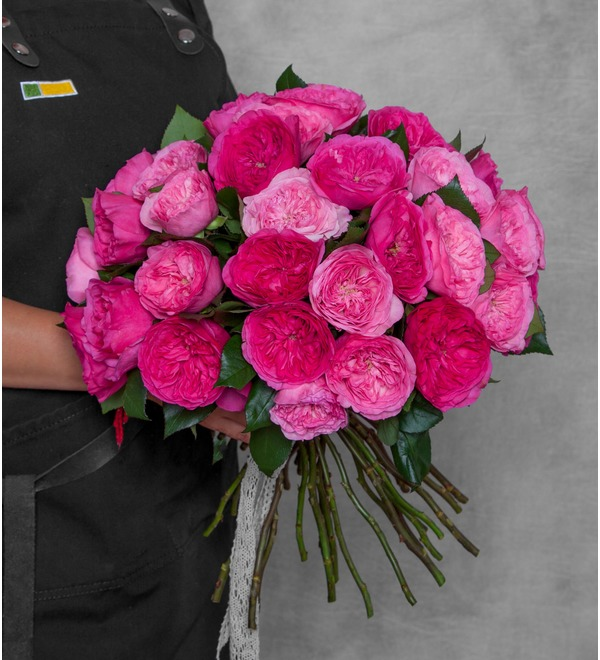 Bouquet of pion-shaped roses For the most beautiful! – photo #1