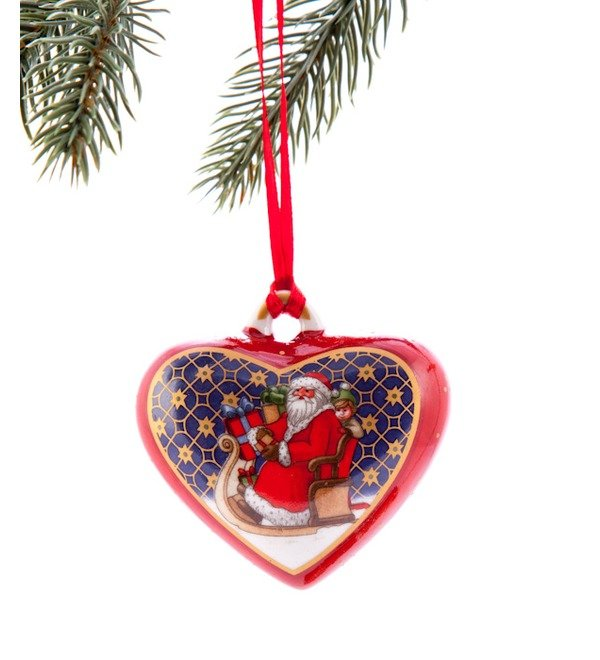 Елочное украшение Сердце с дедом Морозом Villeroy&Boch (Франция) – фото № 1